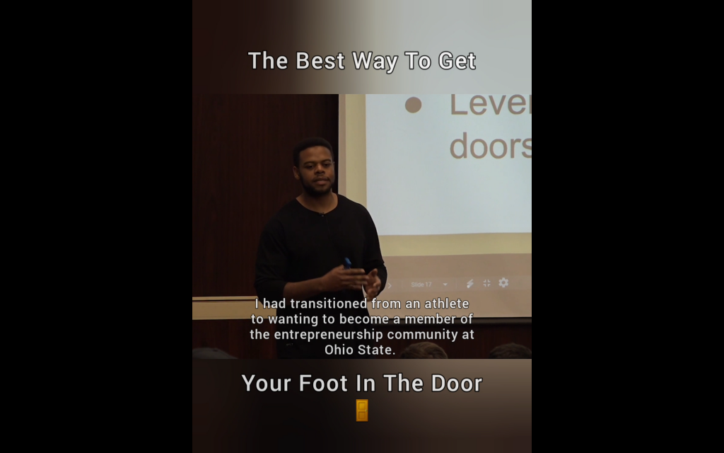 How To Get Your Foot In The Door
