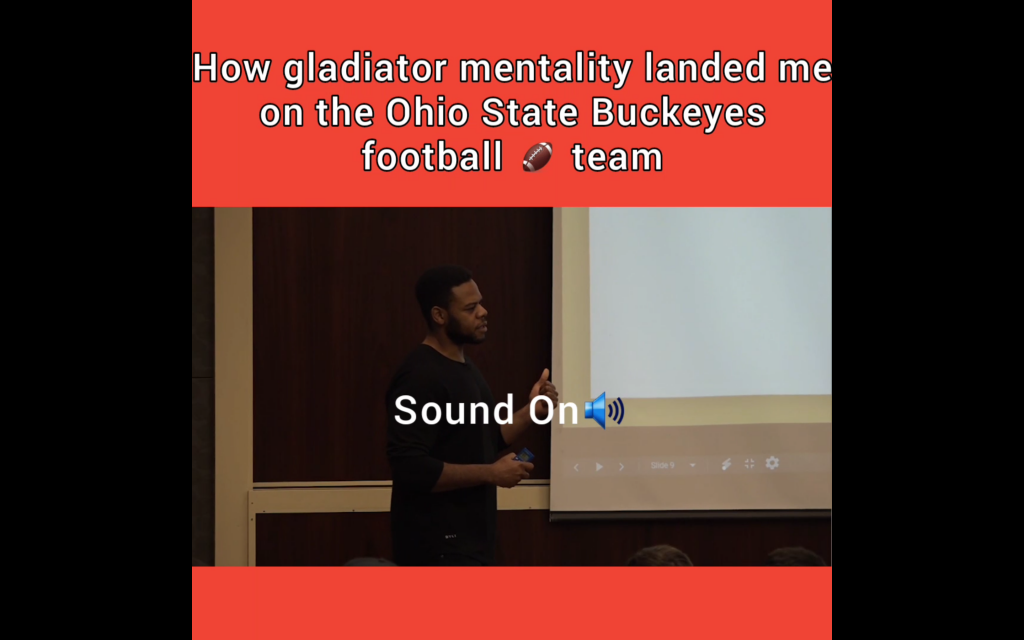 How gladiator mentality landed me on the Ohio State Buckeyes football team