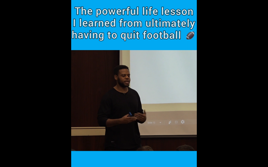 The powerful life lesson I learned from having to quit football