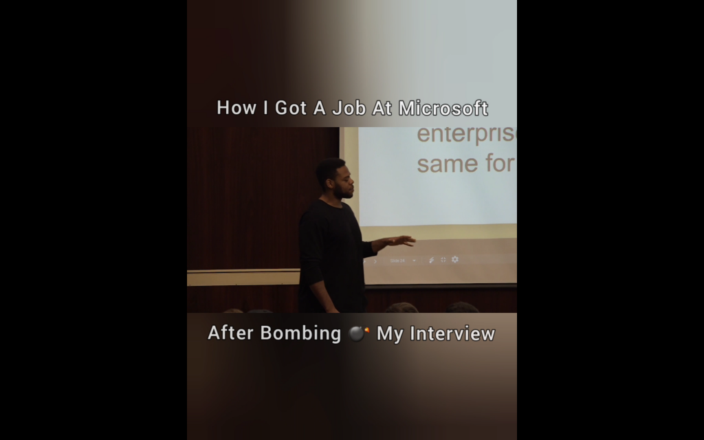 How I Got A Job At Microsoft After Bombing My Interview